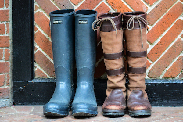 Wellies for walking at Gidleigh Park